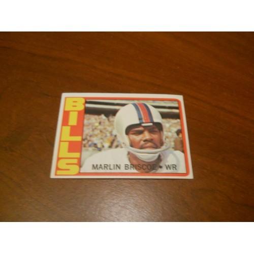 1972 Football Card 30 Marlin Briscoe Nebraska Buffalo Bills High Grade?