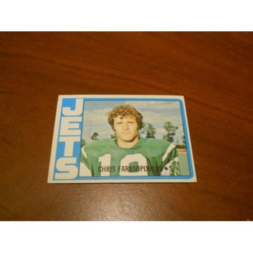 1972 Football Card 36 Chris Farasopoulos BYU Jets Nice Shape ROOKIE RC