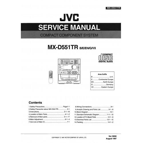 JVC MX-D551TR System Service Manual