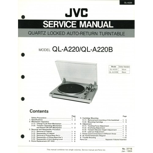 JVC QL-A220/A220B Turntable Service Manual