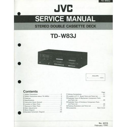 JVC TD-W83J Cassette Deck Service Manual