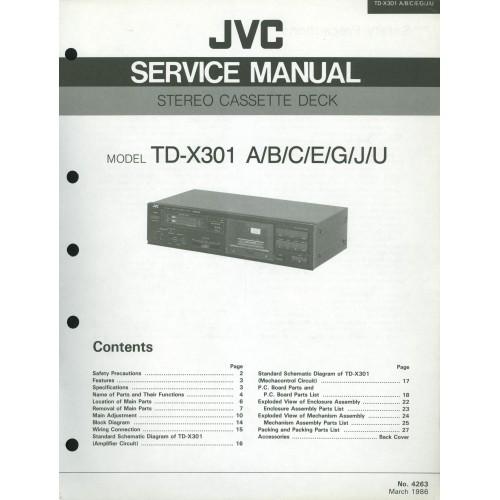 JVC TD-X301 Cassette Deck Service Manual
