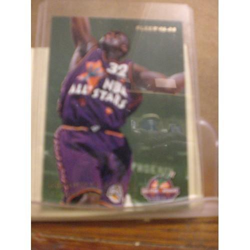 BASKETBALL CARD: 1995 FLEER #2 INSERT SHAQUILLE O'NEAL / HAKEEM OLAJUWON NM/M