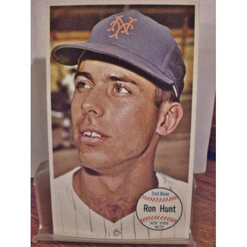 BASEBALL CARD: 1964 TOPPS GIANT # 6 RON HUNT EX