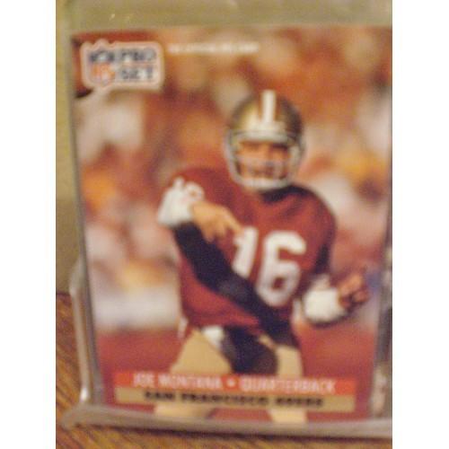 FOOTBALL CARD:  1991 PRO SET 653 JOE MONTANA  NM