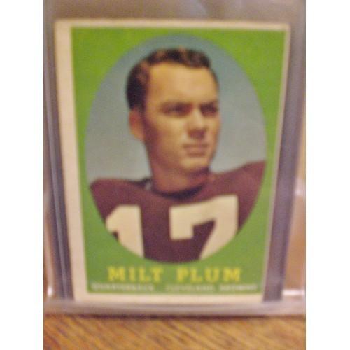 FOOTBALL CARD:  1958 TOPPS  5 MILT PLUM BROWNS VG