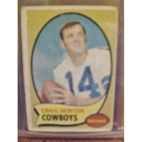 FOOTBALL CARD:  1970 TOPPS 139 CRAIG MORTON VG