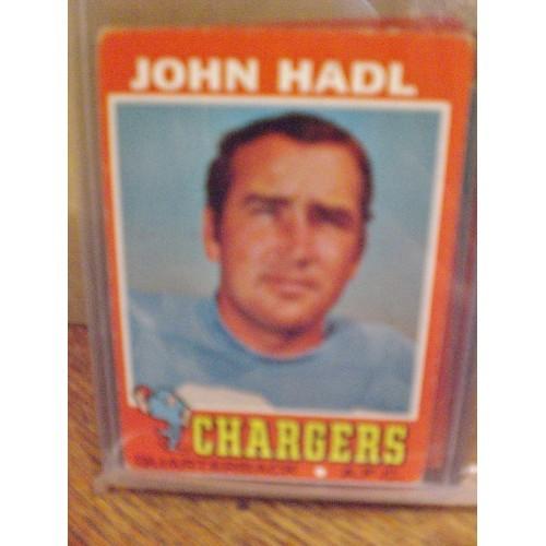 FOOTBALL CARD:   1971 TOPPS 255 JOHN HADL CHARGERS VG