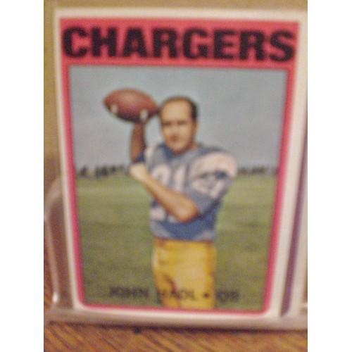 FOOTBALL CARD:  1972 TOPPS 15 JOHN HADL - CHARGERS VG
