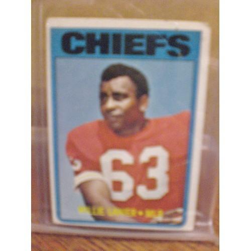 FOOTBALL CARD:  1972 TOPPS 35 WILLIE LANIER - CHIEFS VG CREASE