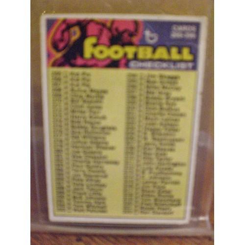 FOOTBALL CARD:  1973 TOPPS 358 CHECKLIST 265 - 396 VG
