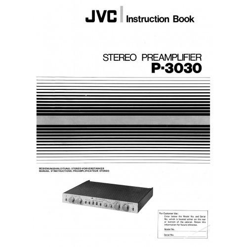JVC P-3030 Amplifier Owners Manual