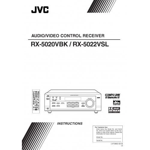 JVC RX-5020VBK/5022VSL Receiver Owners Manual