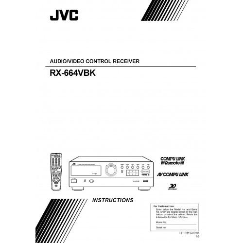 JVC RX-664VBK Receiver Owners Manual