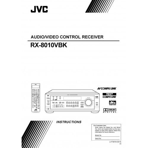 JVC RX-8010VBK Receiver Owners Manual