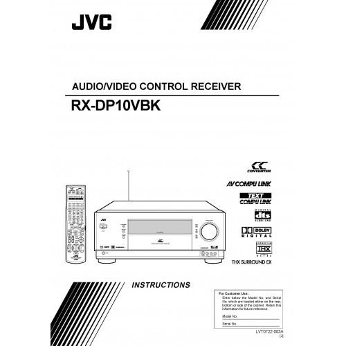 JVC RX-DP10VBK Receiver Owners Manual