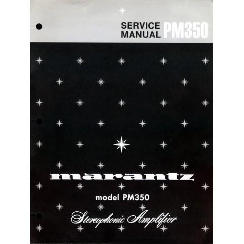 Marantz PM-350 Amplifier Service Manual