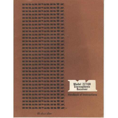Marantz Model 2216B Receiver Owners Manual