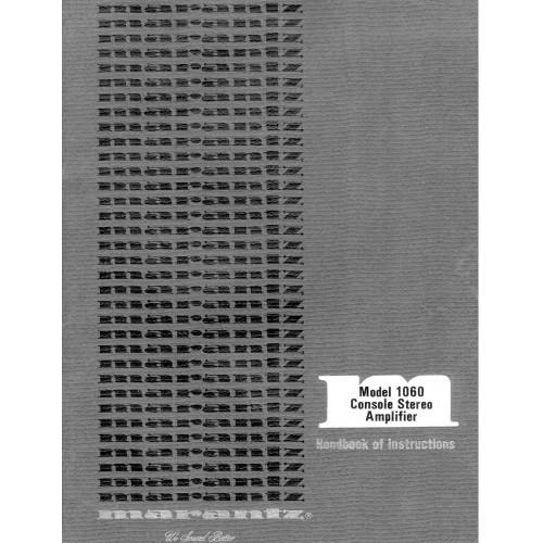 Marantz Model 1060 Amplifier Owners Manual