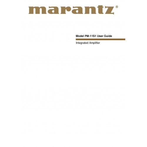 Marantz PM-11S1 Amplifier Owners Manual