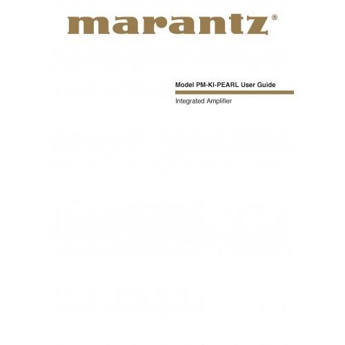 Marantz PM-KI-Pearl Amplifier Owners Manual