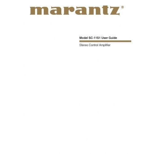 Marantz SC-11S1 Amplifier Owners Manual