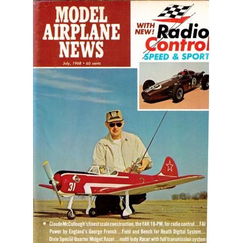 Model Airplane News aviation model magazine - 1968 July