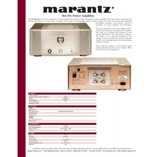 Marantz MA-9S1 Amplifier Sales Brochure