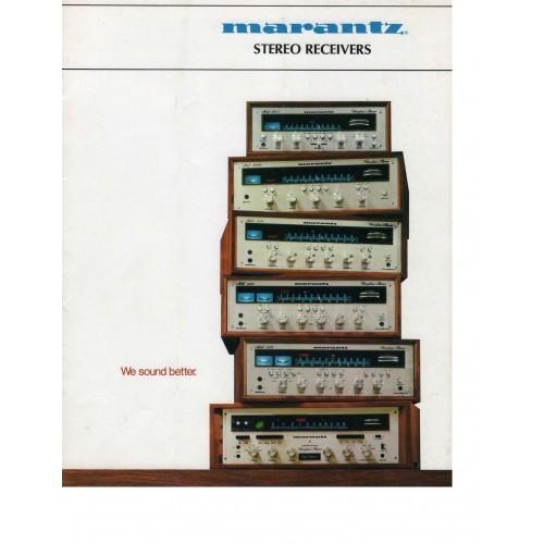 Marantz Stereo Receivers Sales Brochure