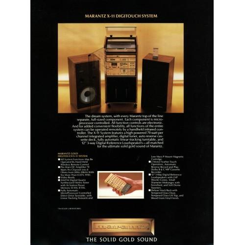 Marantz X-11 System Sales Brochure