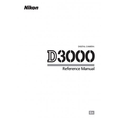 Nikon - D3000 Camera  Owners Manual