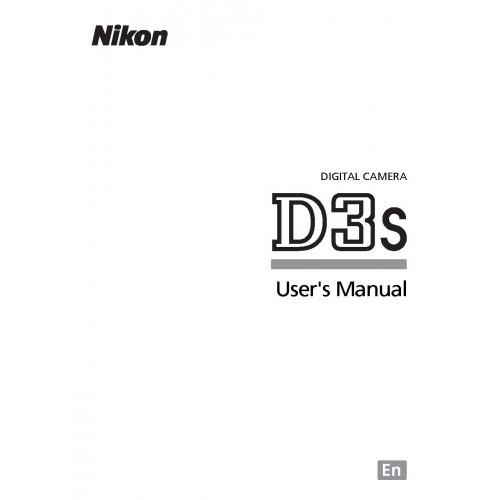 Nikon - D3S Camera  Owners Manual