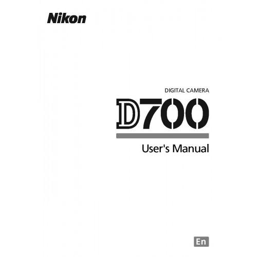 Nikon - D-700 Camera  Owners Manual
