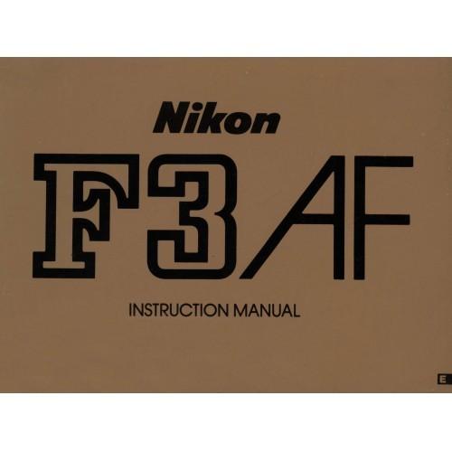 Nikon - F3 AF Camera  Owners Manual