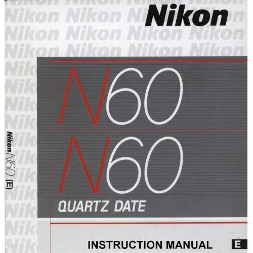 Nikon - N60 Quartz Date Camera  Owners Manual