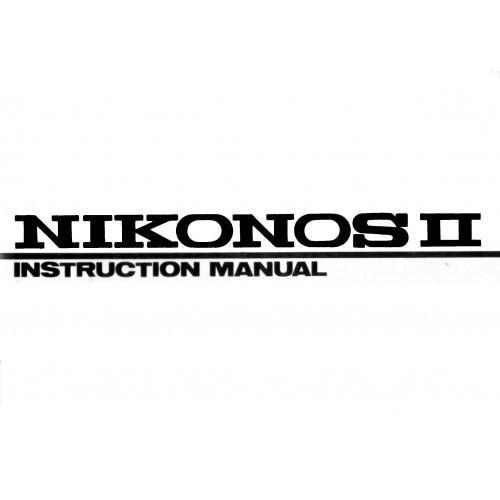 Nikon - Nikonos II Camera  Owners Manual