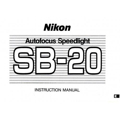 Nikon - SB-20 Speedlight Flash  Owners Manual