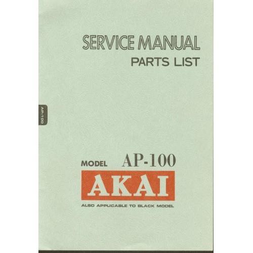 Akai Model AP-100 Turntable Service Manual