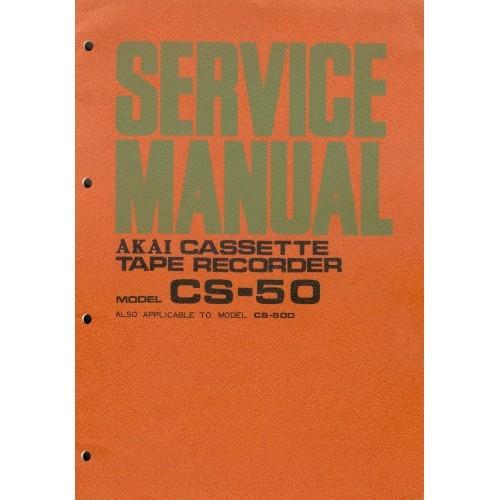 Akai Model CS-50  Cassette Deck Service Manual