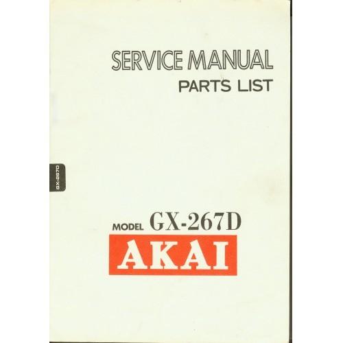 Akai Model GX-267D Reel Service Manual