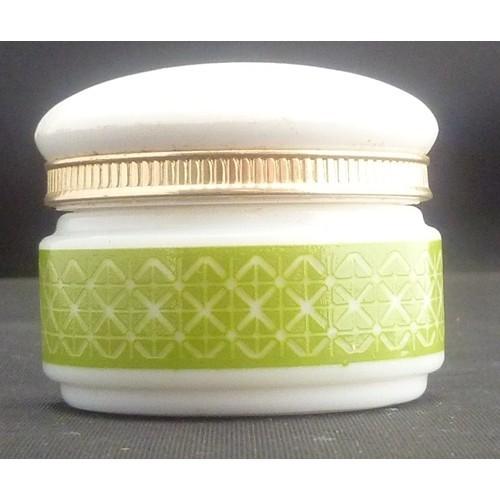 Avon Somewhere Cream Sachet Milk Glass Jar