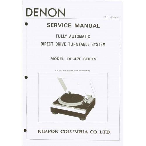 Denon DP-47F Turntable Service Manual