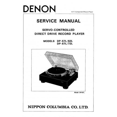 Denon DP-57L/62L/67L/72L Turntable Service Manual