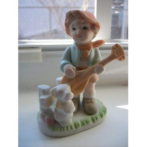 Vintage Porcelain Girl & Boy Figurines