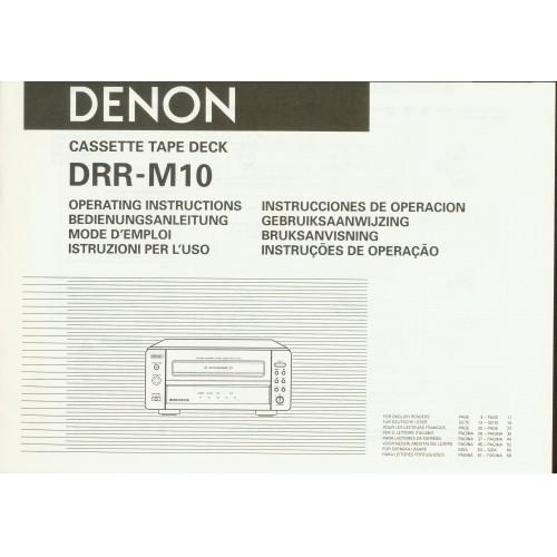 Denon DRR-M10 Cassette Deck Owners Manual