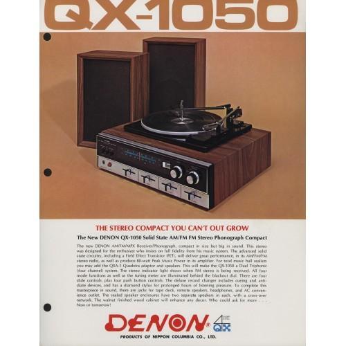 Denon QX-1050 System Sales Brochure