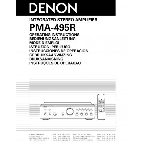 Denon PMA-495R Amplifier Owners Manual
