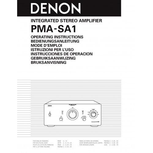 Denon PMA-SA1 Amplifier Owners Manual