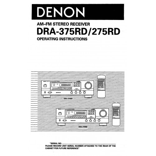 Denon dra-545r receiver owners manual | ebay.