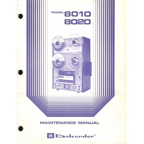 Dokorder Model 8010/8020 Reel Deck Service Manual
